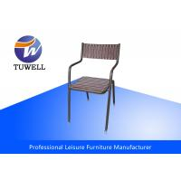 China Strong Iron Rustproof Steel Metal Dining Chairs Smoothly Polished wholesale