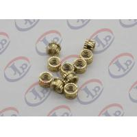 China OEM ODM CNC Machining Parts , Swiss Lathe Turning Brass Knurled Nuts with M5 Thread wholesale