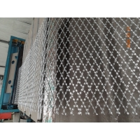 China 75x150MM Stainless Steel BTO-10 Diamond Razor Mesh For Security wholesale