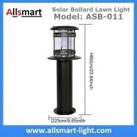 Quality 12LED 60cm 24Inch Height Black Sensor 2500mAh Westinghouse Solar Bollard Lawn Light Landscaping Yard Driveway Lamp for sale