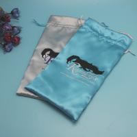 China Luxury Silk Satin Hair Extension Packaging Bags , Personalized Satin Organza Bags on sale