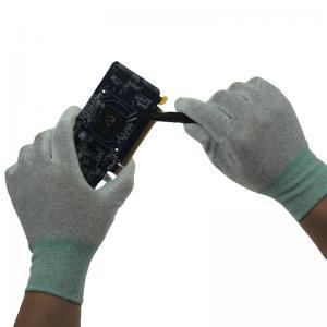 China White Cleanroom Antistatic Nylon ESD PU Palm Gloves wholesale