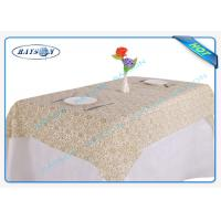 China Gold Flower Printing Waterproof Non Woven Tablecloth For Home Use wholesale