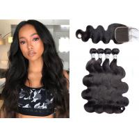 China Silky Body Wave Hair Extensions Human / Black Brazilian Body Wave 30 Inch wholesale