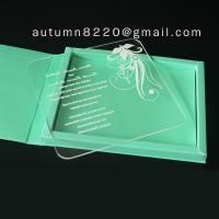 China clear acrylic invitation wholesale