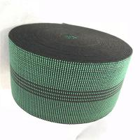 China 3 Inch Covered Threads Elastic Rubber Upholstery Webbing For Function Sofa In Green Color 460B# wholesale