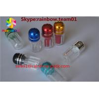 China silver and gold clear ps sex pill bottle container pill bottle plastic pill bottles sex capsule bullet shell casing wholesale