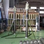 China 12m lockable pneumatic telescopic mast 70kg payloads NR-2500-12000-70L wholesale