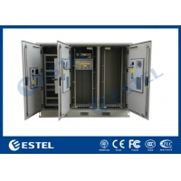 China Wireless 3 Compartments 3 Air Conditioners Cooling Outdoor Base Station Floor Mounted Outdoor Cabinet wholesale
