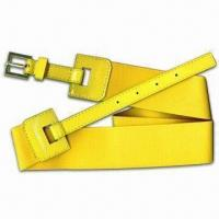Quality 2.5-inch Elastic Belt with Patent Leather and Alloy Buckle, Colors are Subject for sale
