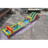 China Customized Inflatable Bouncy Castle , Blow Up Outdoor Obstacle Course For Adults wholesale