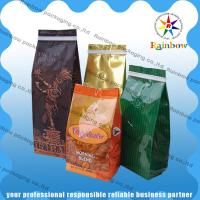 China Stand Up Coffee / Tea Plastic Packaging Bag Side Gusset  Custom Printing With Valve wholesale