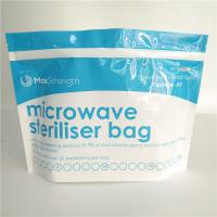 China Food Storage Microwave Steriliser Bottom Gusset Bags Resealable Top Zipper Custom wholesale