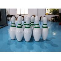 China CE PVC Tarpaulins Inflatable Bowling Pins Set Game With Zorb Ball wholesale