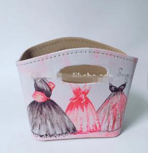 China High Quality Storage Basket Empty Gift Bag PU Decoration Basket Home Container Storage Basket wholesale