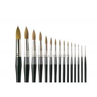 China Pro 15 Pieces Body Makeup Paint Brushes Watercolour Oil Paint Round Brush Collection wholesale