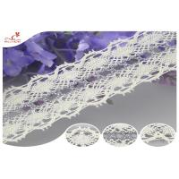 China Customizable White Webbing Cotton Lace Trim Lace For Women Dresses on sale