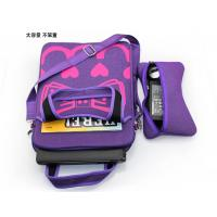 China Muti-function laptop sleeve bag laminated printed jeans fabric / hooked charger bow pouch on sale