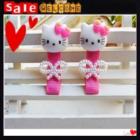China Cute Baby Girl Accesorios Factory Wholesale Pearl Bowknot Pink Hello Kitty Hair Clip wholesale