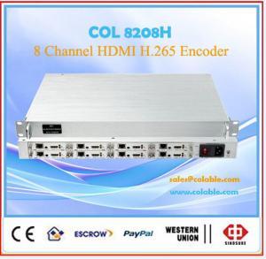 China 8CH  H.264/h.265 HDMI/Audio  iptv  Live streaming encoder COL8208H wholesale