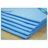 China Clinic / Hotel Hygiene Blue Disposable Bed sheet Easy Carry Paper Bedsheet wholesale