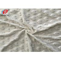 Quality Heart Design Super Soft Polyester Minky Fabric For Baby Blanket In White for sale