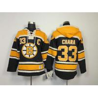 Quality NHL Boston Bruins 33 Zdeno Chara Black Hoodies Jersey Old Time Hockey for sale