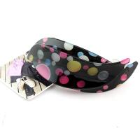 China Korean Resin Dot Water Spray Hair Barrettes wholesale