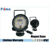 China 27W Round Portable LED Work Lights With Magnetic Base , Cigar Lighter Connector on sale