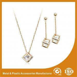 China Personalised Fashion Diamond Zinc Alloy Jewelry Sets For Women wholesale