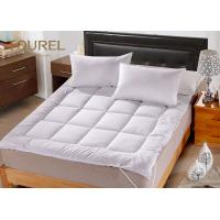 China White Queen Bed Mattress Protector For Hotel Hospital Spa Home wholesale