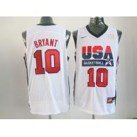 China 2012 London Olympic basketball jersey USA 10 Bryant white wholesale