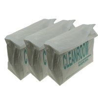 """China 9x9"""" Polyester Cleanroom Microfiber Wiper 140gsm Non Woven wholesale"""