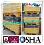 China Four Drum Spill Containment Pallets , HDPE Oil Drum Containment Pallet Stackable wholesale