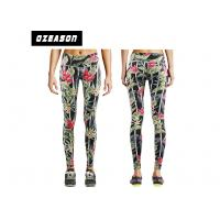 China Girl's Polyester Yoga Pants Fitness Running Tights Color Combination Digital Printed wholesale