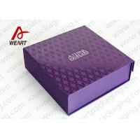 China UV Varnish Automatic Purple Gift Boxes With Lids wholesale