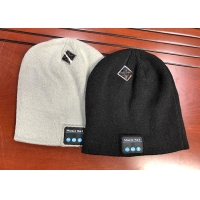 China Music Unisex Hands-free Women Slouchy Bluetooth Beanie Winter Hats Wireless Earbuds Hat Custom Knit Cap with Bluetooth E wholesale