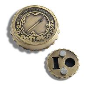 China Beer Cap Shape Personalised Fridge Magnet Bottle Opener Zinc Alloy Material wholesale