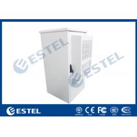 China 19 Inch Rack 27U Air Conditioner Cooling Outdoor Telecom Cabinet Two Doors wholesale
