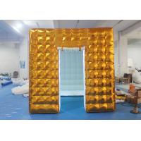 China Gold Inflatable Photo Booth 2.5 X 2.5 X 2.5 M Two Doors CE Approved wholesale