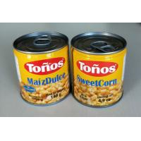 China Tonos Brand Sweet Canned Corn Maiz Dulze 185g Lithographic Cans on sale