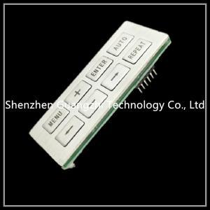 China Customized Membrane Switch Keypad , Mfg Pet Embossing Silicone Rubber Keypad wholesale