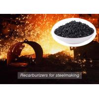 China Low Sulfur Graphite Recarburizer / Calcined Anthracite Coal For Steel Making wholesale