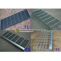 China Construction Metal Stair Steps , Exterior Metal Stair Treads 40mm Width wholesale