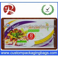 China Laminated Instant Noodles Food Custom Printed Plastic Bags 3 Sides Heat Sealing wholesale