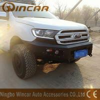 China Standard Size Steel Front Bumper Replacement Black Color For Ford Everest wholesale