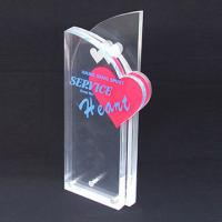 China Custom Engraved Corporate Gift Acrylic Award Trophy With Silk Printing Logo wholesale