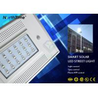 China 1900LM 18w LED Street Light With Pole Solar Panel 12v 13ah Lithium Battery wholesale