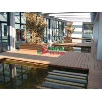 Anti - UV Hollow WPC Garden Decking Corrosion Resistance Convenient Processing