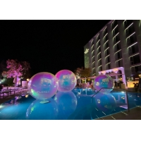 China Colorful 2.0m PVC Inflatable Reflective Ball Christmas Mirror Sphere wholesale